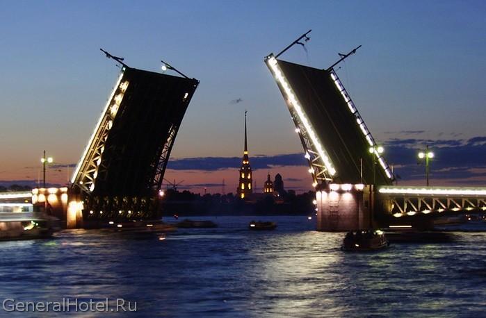 График разводки мостов Санкт-Петербурга 2016